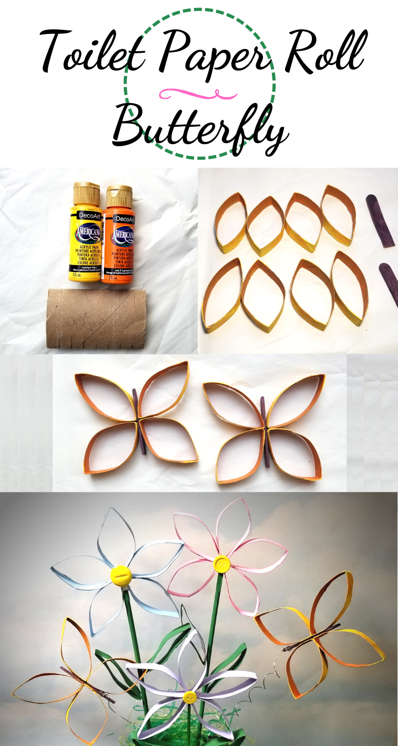 Toilet Paper Roll Butterfly Spring Crafts Woli Creations